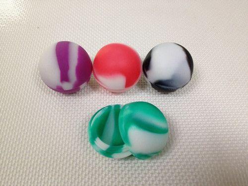 100 pcs / lot 5.6 ml Forme de boule anti-adhésive bocaux de silicone dab conteneur de cire Multi couleur 100 pièces / lot livraison gratuite