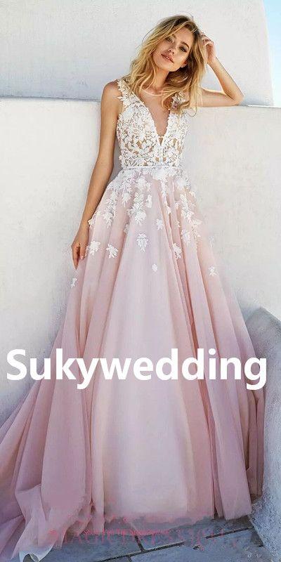 Pretty in Pink Wedding Dresses
