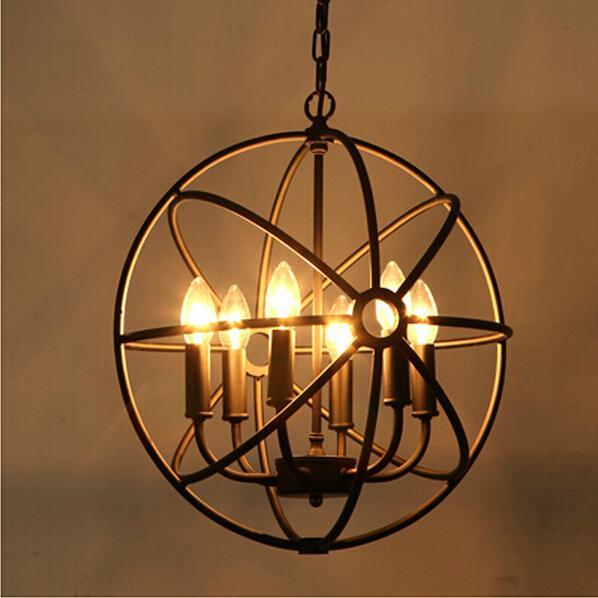 Loft Amerikanischen Stil Retro Nordischen Jahrgang Pendelleuchte Eisen  Industrielle Hängelampe Wohnzimmer Esszimmer Leuchte Lampe
