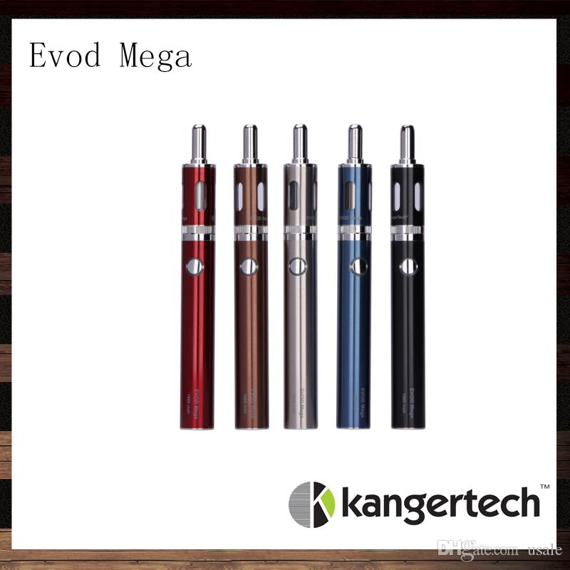 Kanger Evod Mega Kit Kangertech Evod Mega E-sigaretta Starter kit con 2,5 ml Atomizzatore 1900 mAh 100% originale della batteria