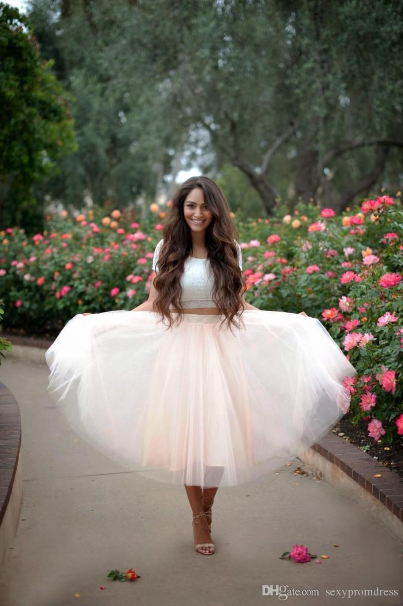 beef526456 ... 2015 Blush Pink Tulle Skirts Custom Ball Gown Women Skirts Tea Length  Many Layers Party Dresses ...