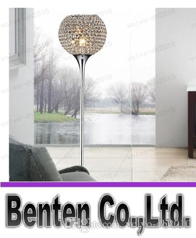LLFA52 Darmowa Wysyłka Kryształowa Lampa podłogowa LED E27 Nowoczesne Kinkiet Kryształowe Lampy Foyer Lampy Shade Home Decor Decor Study Study Light