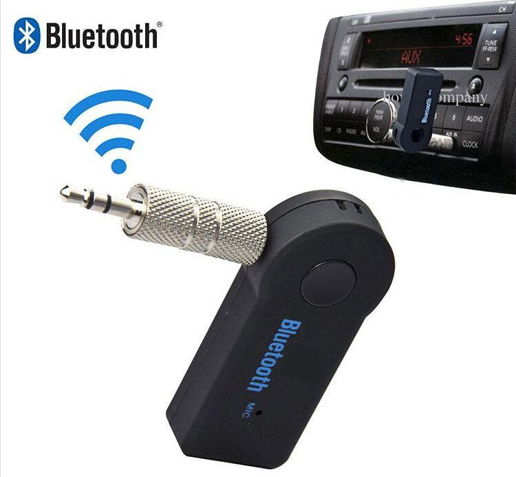 عالمي 3.5 ملليمتر يتدفقون سيارة a2dp بلوتوث اللاسلكية aux الصوت الموسيقى المتلقي محول يدوي مع ميكروفون للهاتف mp3 100 قطع يصل