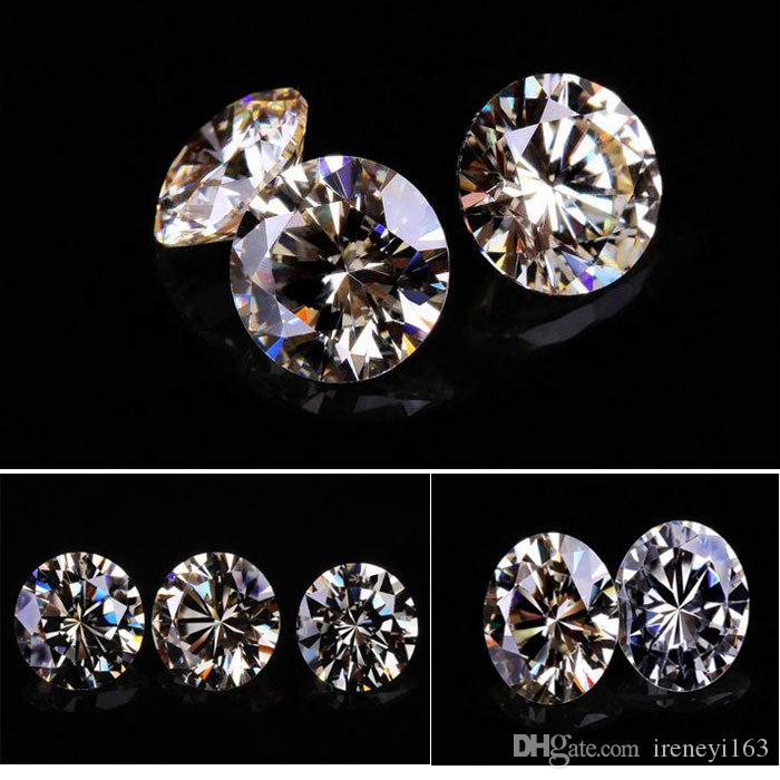 200psc/Lot High Quality 3A Clear Cubic Zirconia Synthetic Gems Loose Stone For Jewelry 5.25-8mm