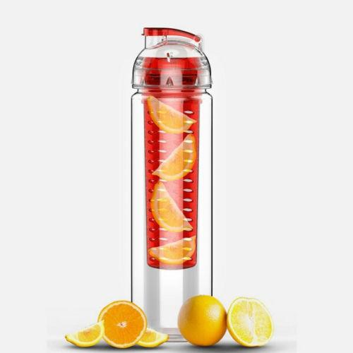Free Shipping 700ML Fruit Infusing Infuser Water Sports Health Lemon Juice Bottle Flip Lid New
