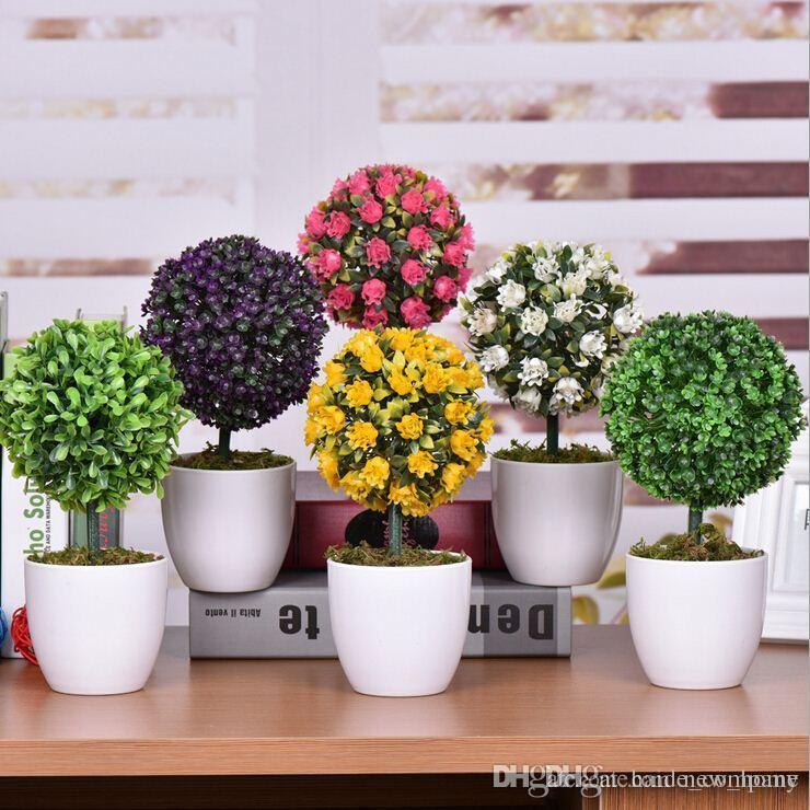 Eg /_ 10/'/' Garten Künstlich Bonsai Blumen Pflanze Baum Ornament Zuhause Dekor G