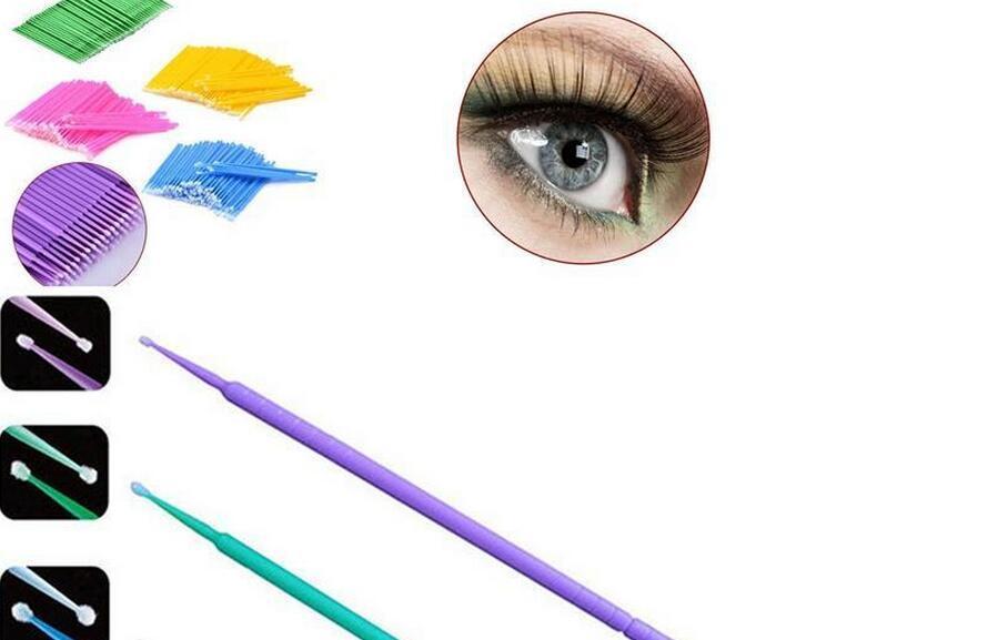 2000pcs Make Up Brushes Synthetic Durable Micro Disposable Eyelash Extension Individual Applicators Mascara Brush
