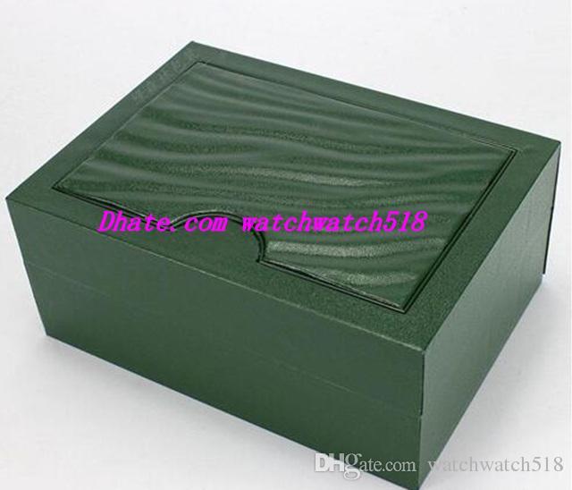Spedizione gratuita New Luxury Mens Box originale di marca verde scatole di carta orologi libretto carta regalo per uomo uomo donna vendita