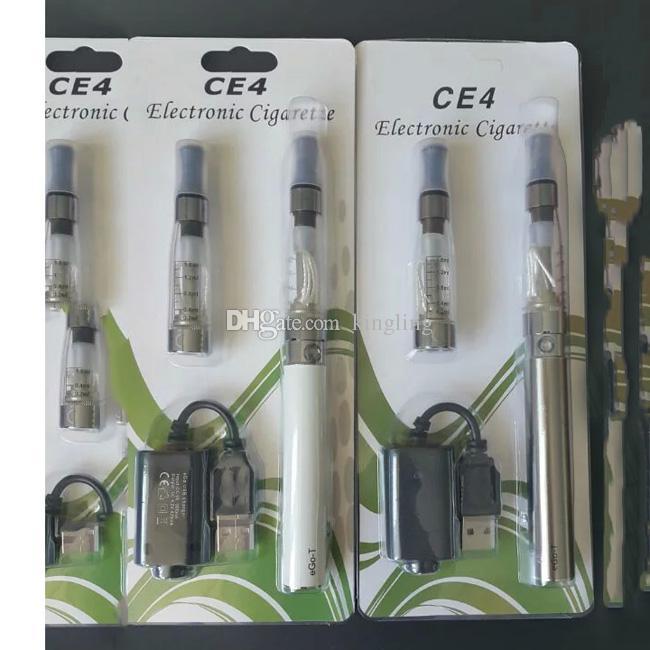 eGo CE4 Blister Kits eGo-T Battery 650mah 900mah 1100mah Electronic Cigarette E Cig Kits CE4 Clearomizer e cig mixed Colors