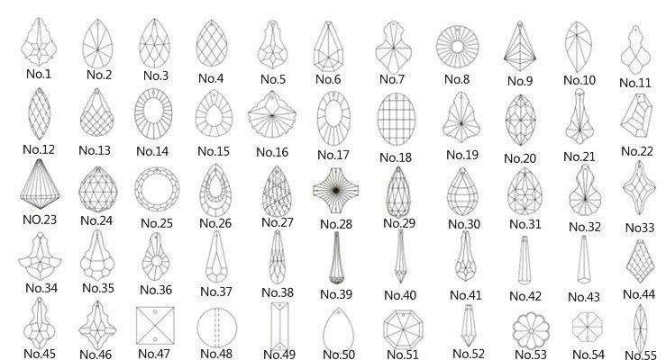 2016 63mm Crystal Almond Shape Chandelier Pendants/Crystal Curtain ...:USe : curtain pendants , chandelier pendants , chandelier trimming .,Lighting