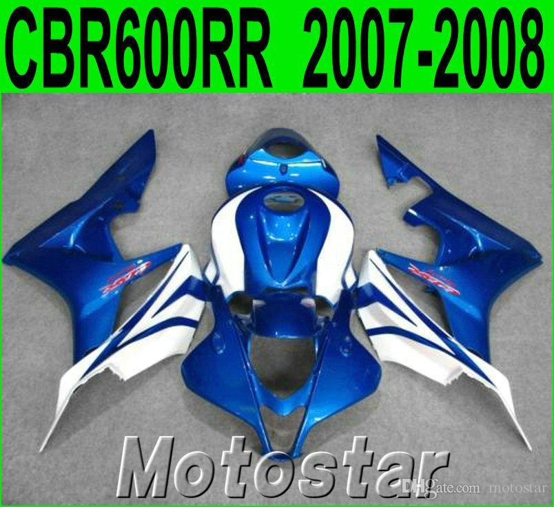 7 gifts + fairing kit for HONDA Injection molding CBR600RR 2007 2008 CBR 600 RR F5 07 08 blue white bodywork fairings LY85