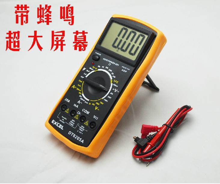 Medidor DT9205A do ohm VOLT da CC da CA do multímetro digital do LCD