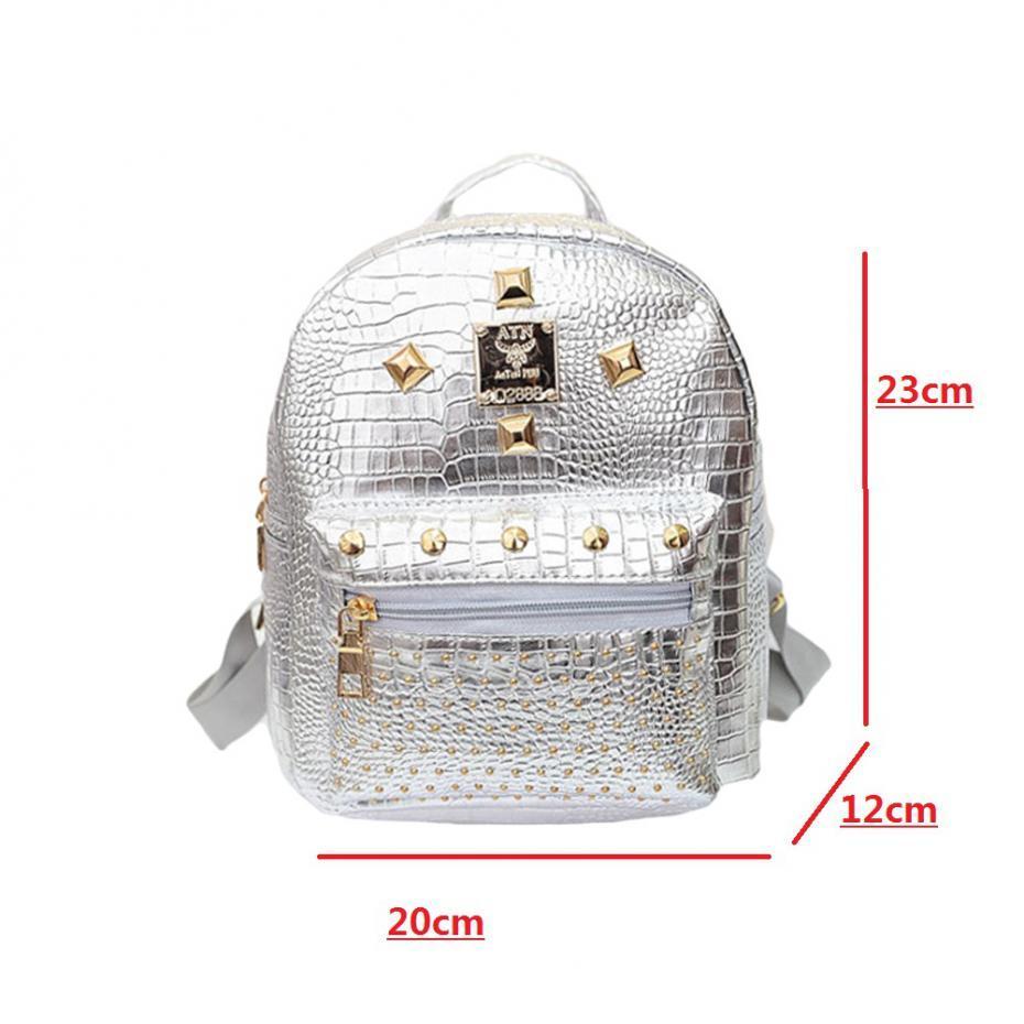 Mini Nieten Rucksack Für Frauen Mädchen 2017 Kinder Schultasche Frauen Rucksack Mochila Escolar Weiblichen Rucksack