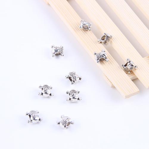 Nouvelle mode argent / cuivre rétro Crossbones perles Pendentif Fabrication DIY bijoux pendentif fit Collier ou Bracelets charme 300pcs / lot 4851x