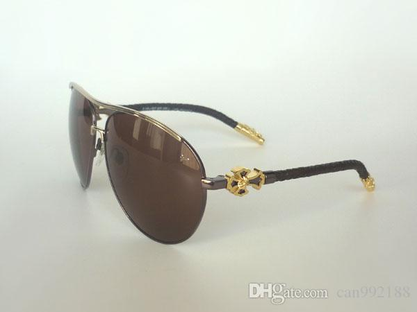 luxury sunglasses men  Sunglasses Brand Designer Sunglasses Gold Frame Brown Lense Unisex ...