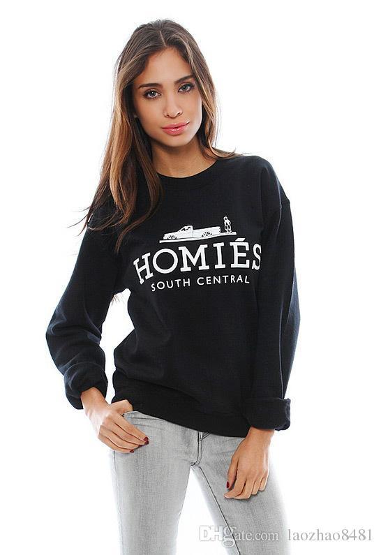 Großhandel Fashion HOMIES Sweatshirt Frauen Hoodie Neue 2016 Sport Klage Der Frauen Mann Moleton Starke Hoodies Trainingsanzüge Kostenloser Versand