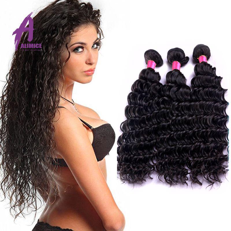 Peruvian Virgin Hair Deep Wave Virgin Human Hair High Quality 6A Grade Weaves FedEx Free Shipping deep wave 22 inches with 3 part closure