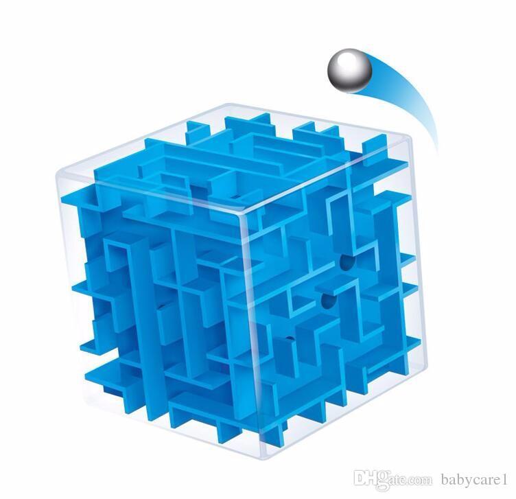 3D Mini Speed Cube Labirinto Cubo Mágico Enigma Do Enigma Do Jogo Cubos Magicos Brinquedos de Aprendizagem Brinquedos de Labirinto Bola De Rolamento Para Chilren Adulto