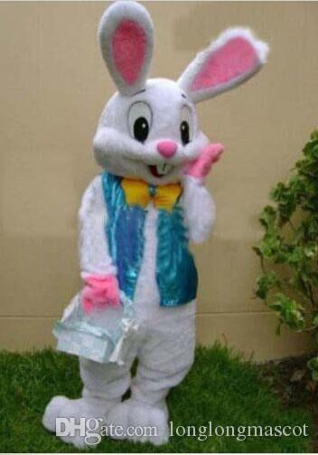 2018 vente chaude Pâques Lapin Costume De Mascotte Halloween Costume lapin robe livraison gratuite