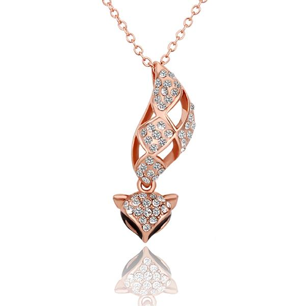Popular LadyWomen Noble 18K Rose Gold Plated Necklace Czech