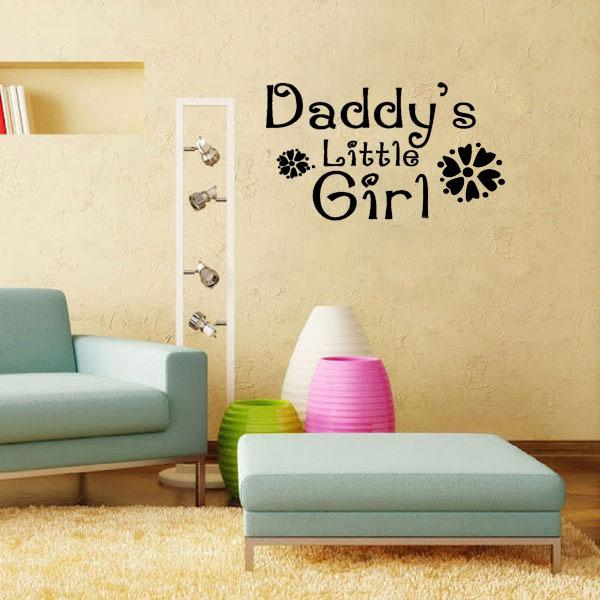 Daddy\'S Little Girl Nursery Baby\'S Room Living Room Wall Pictures ...