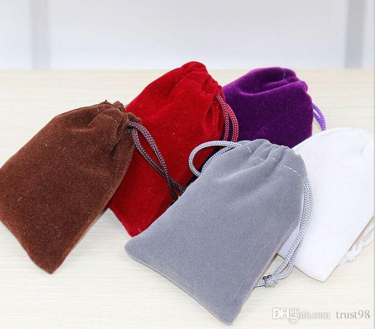 벨벳 선물 파우치 9x12 센치 메터 (3.5 x 4.75 인치) 팩 50 목걸이 팔찌 팔찌 보석 메이크업 졸라 매는 끈 가방
