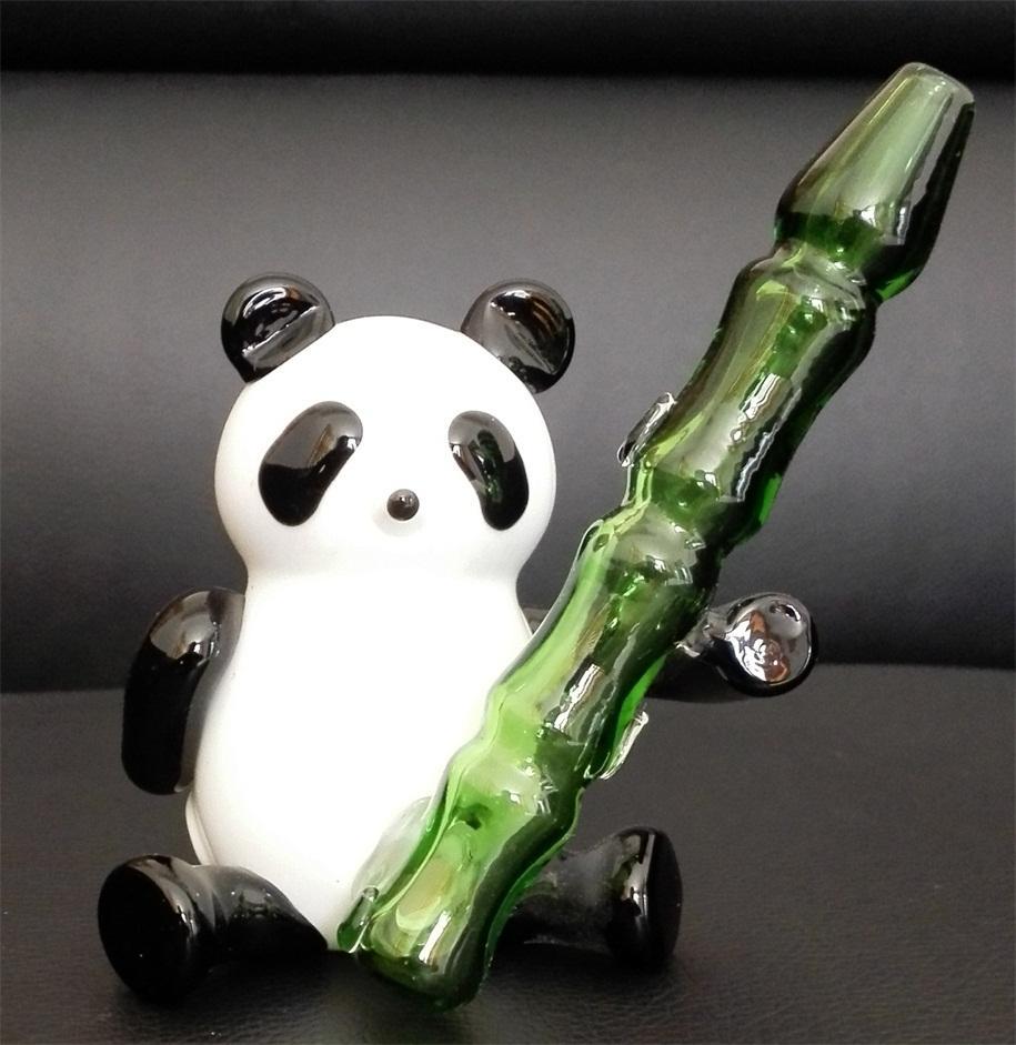 2016 YENI cam sigara borular Yaratıcı Panda tarzı cam borular cam boru yüksekliği 11 cm