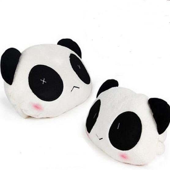 A Nova Fábrica Direto de venda bonito panda de pelúcia encosto de cabeça encosto de cabeça suprimentos suprimentos Jushi 2 pcs = 1 conjunto