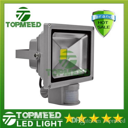 DHL IP65 Water Secure 10W 20W 30W 50W Outdor Light Light Outdor Project Lamp LED Flood light COB lighting 85-265V PIR Motion director 55