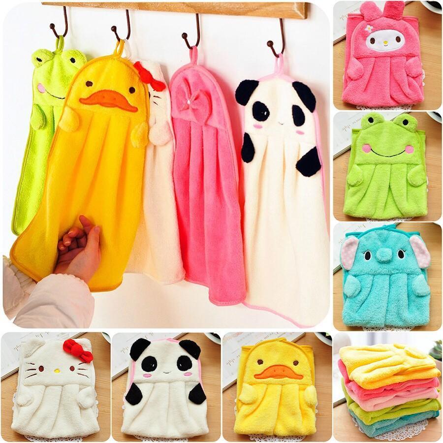 لطيف الحيوان أطفال الأطفال الكرتون ماص ستوكات منشفة اليد منشفة جافة جميلة لل مطبخ حمام استخدام WB36