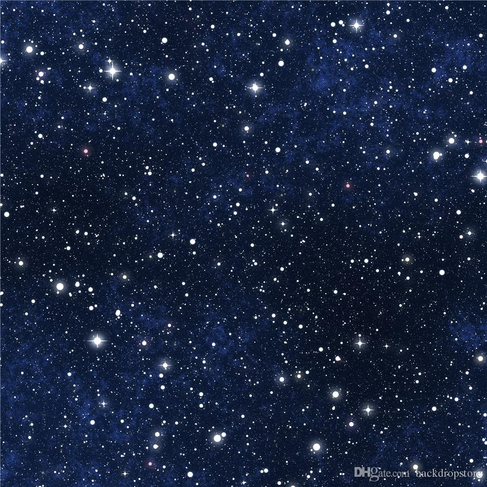 Dark Blue Sky Sparkling Stars Night Starry Photography Backdrops Vinyl Fabric Newborn Photo Wallpaper Kids Children Photographic Background