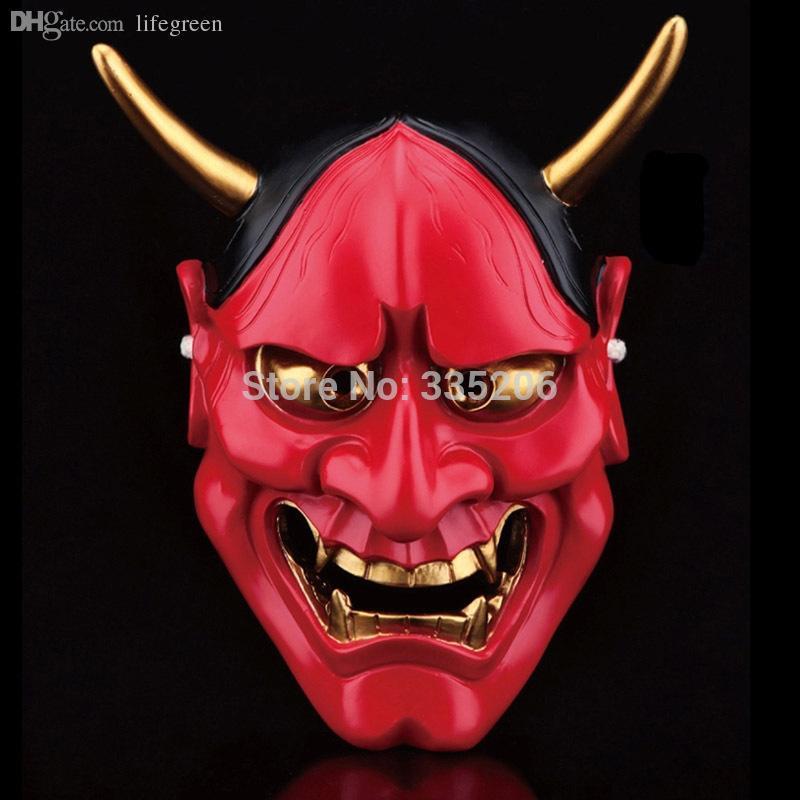 Vintage Buddhist Evil Oni Noh Hannya Horror  Halloween Costume Prop