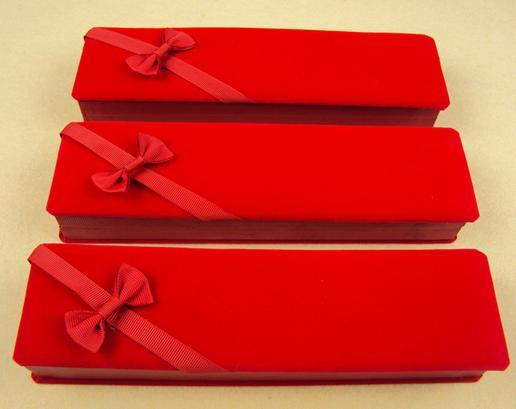 Hot sell Flannelette long high grade pearl necklace gift box