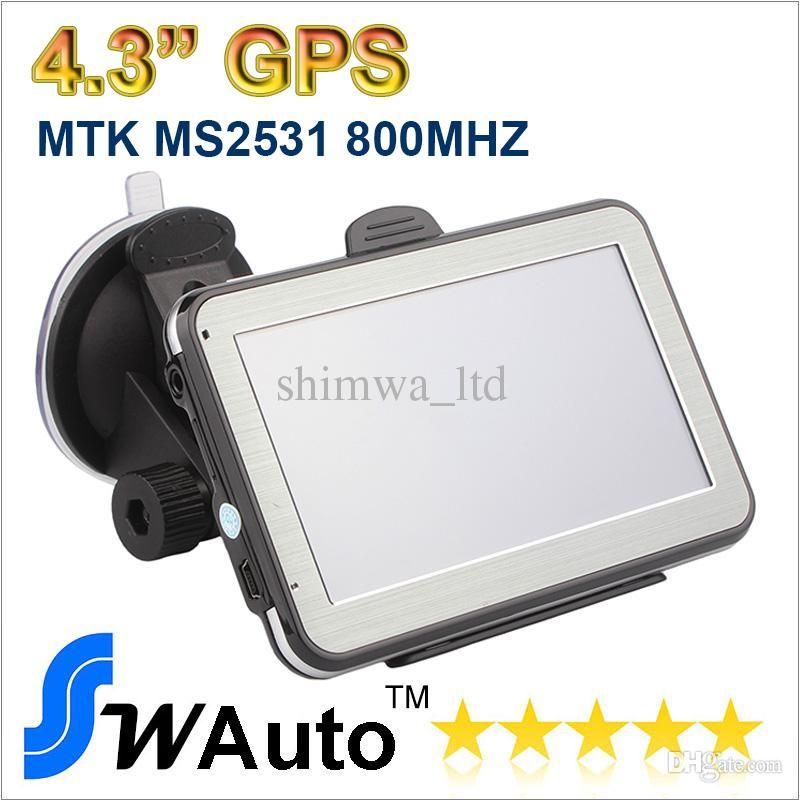 4,3 pouces MTK2531 V912S Voiture GPS Navigation Navigateur Transmetteur FM Multilingue Win CE 6.0 Nouveau Multi-pays Carte Livraison gratuite
