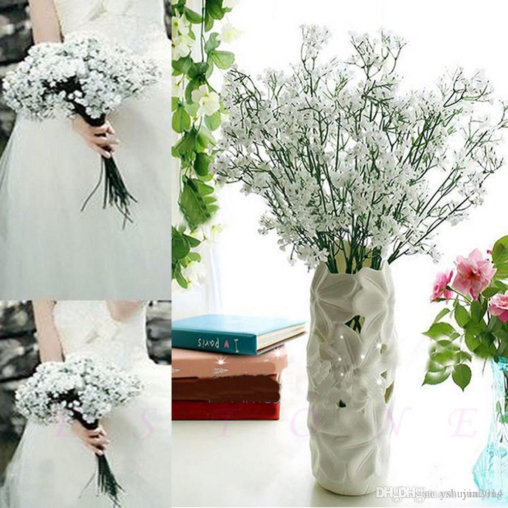 뜨거운 판매 패션 Gypsophila 아기의 호흡 인공 가짜 실크 꽃 공장 홈 웨딩 장식 파티