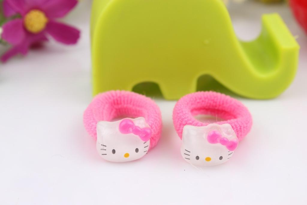 335ffbc0e Hair Accessories Sets Hello Kitty Cat Bracelet Hairpin Hair Clip Ring Head  Hair Rubber Rope Bands Girls Children Kid Birthday Christmas Gift