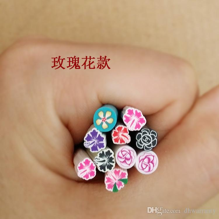 Cute Nail Art Stickers 10syles Nail Art Canes Stickers Rod Fimo ...