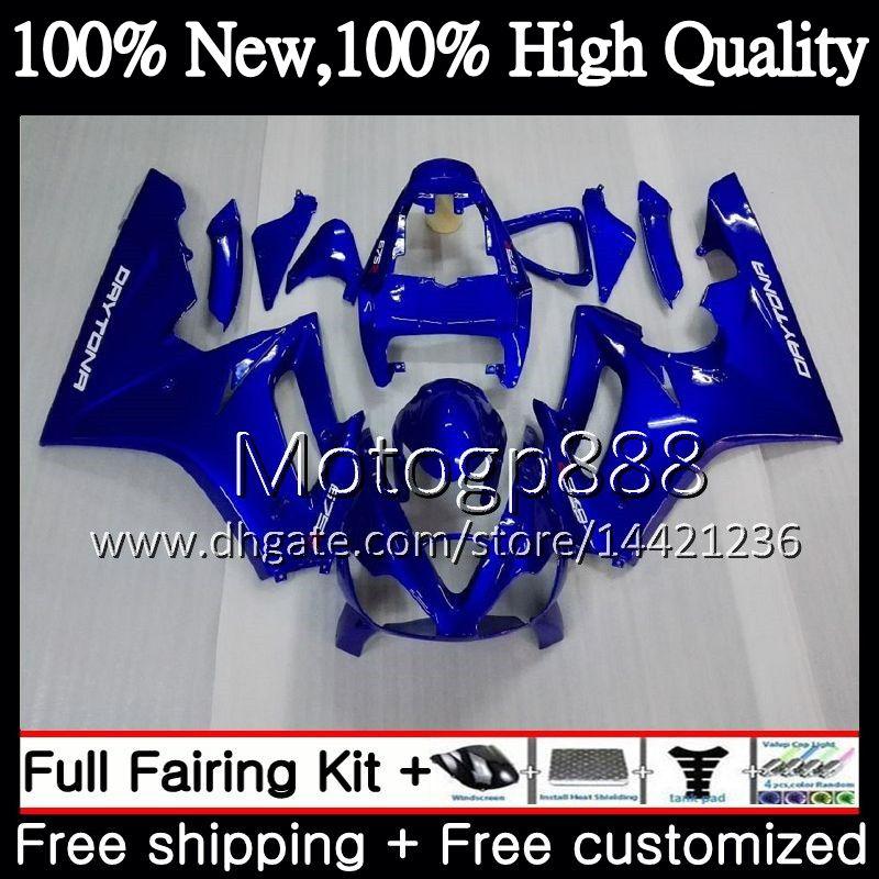 Body For Triumph Daytona 675 02 03 04 05 06 07 08 7PG11 Glossy blue Daytona 675 2002 2003 2004 2005 2006 2007 2008 02-08 Carenatura Carrozzeria