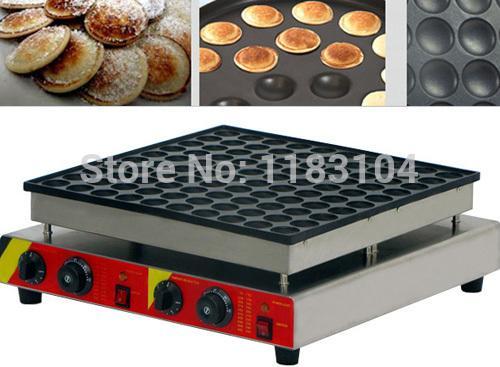 100ピースの頑丈な非スティック110V 220V電気ミニオランダのパンケーキPoffertjes Baker Maker Machine Iron Mold Pan