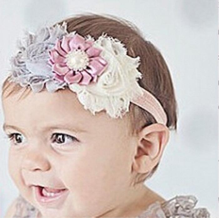 Haarband Blume Baby Mädchen Stirnband Kopfband Haarschmuck Strass 15 Farben