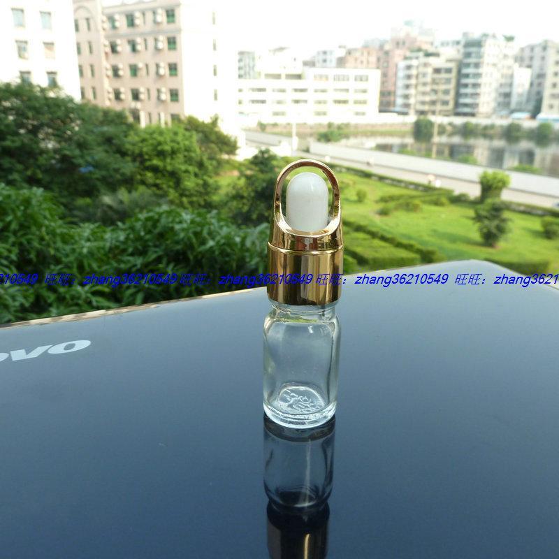 5ml 투명 / 투명 유리 에센셜 오일 병 반짝이는 금형의 스포이드 캡이 달린 알루미늄 바구니. 오일 바이알, 에센셜 오일 용기