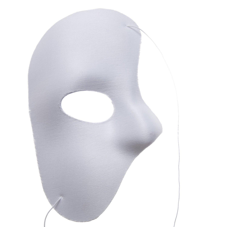 Phantom of the Opera Twarzy Maska Halloween Boże Narodzenie Nowy Rok Party Costume Clothing Make Up Fancy Dress Up - Większość dorosłych Biała maska fantomowa
