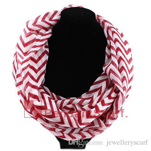 Nuevo diseño Wave Chevron Infinity Bufanda de la bufanda de la bufanda de la bufanda de la bufanda de la bufanda 6 colores disponibles, envío gratis, sc0048