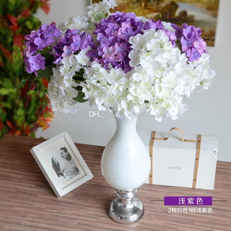 8Pcs 51cm Silk Hydrangea Flower Bunch Fake Flowers Hydrangeas Seven Heads for Wedding Party Home Artificial Decorative Flowers Centerpieces