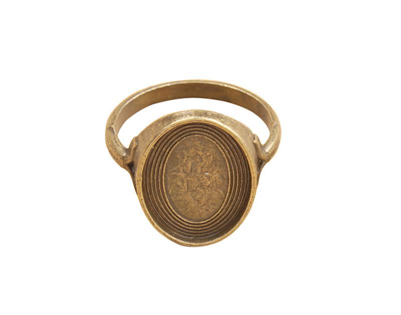 20 PCS Antiqued Bronze Base Ring Blank Settings 18x13mm # 91348