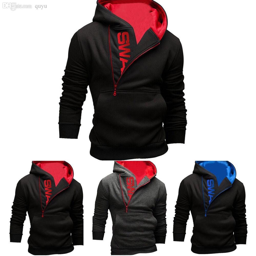 Fall-Mens 'sudadera con capucha de manga larga sudadera con capucha Tops chaqueta abrigo Outwear