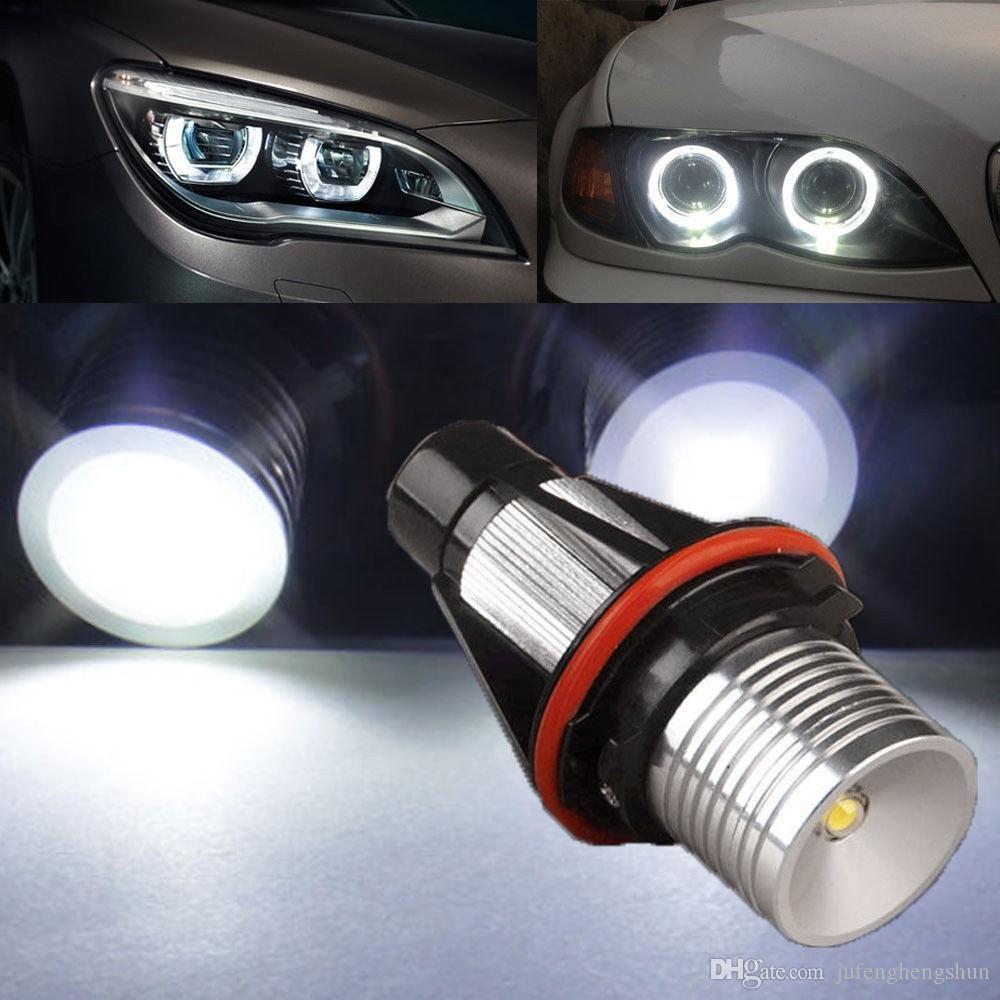 1 세트 LED 자동차 전구 천사 눈 헤일로 링 높은 전력 3W DC 9V 30V 화이트 7000K LED 램프 BMW E39 E53 E60 E63 E63 E65 E66 E78