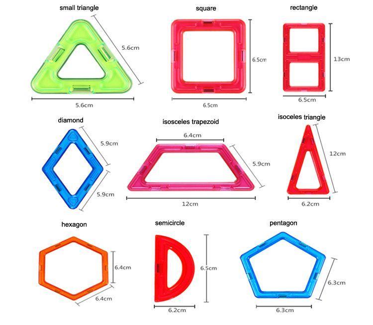 다양 한 어린이 빌딩 블록 자기 시트 자기 지혜 마술 조각 단일 사각형 조각