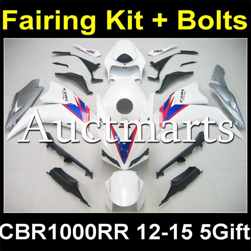 Full Body Plastic Fairing Kit + Bolt Kit For Honda Cbr1000rr Cbr1000 Cbr  1000 1000rr 2012 2013 2014 2015 12 13 14 15 Body Fairing Set H2 633