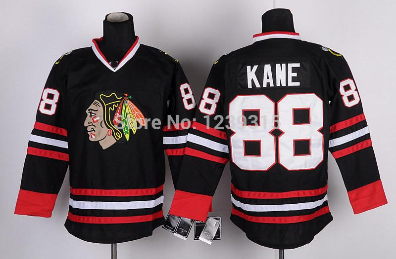 new products ee376 13c40 Wholesale Chicago Blackhawks Hockey Jerseys Patrick Kane Jersey 88 Home Red  White Black Green Stitched Ice Hockey Jersey/Bags UK 2019 From Probowl, UK  ...